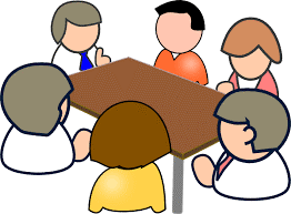Trustees sat round a table